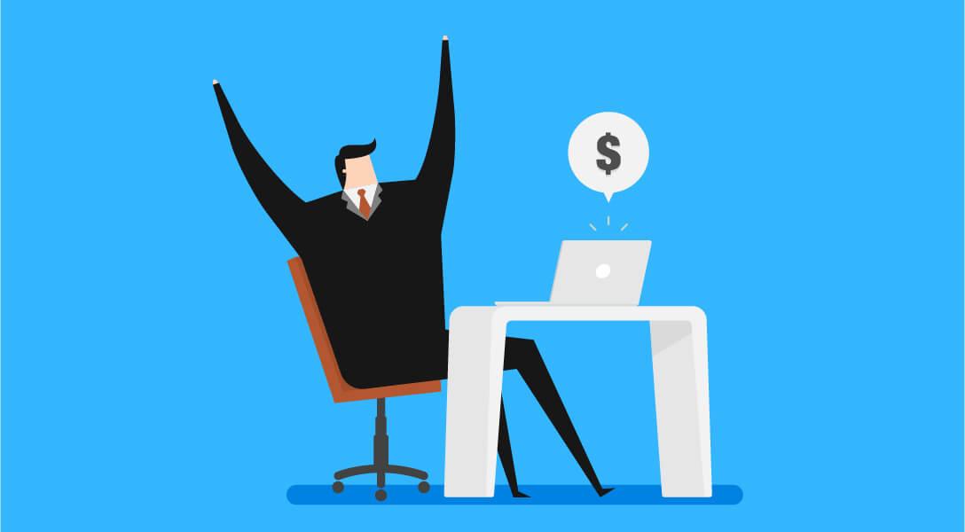 Man Earning Online