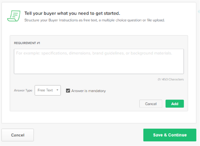 HOW TO CREATE A GIG ON FIVERR requirements of gigs