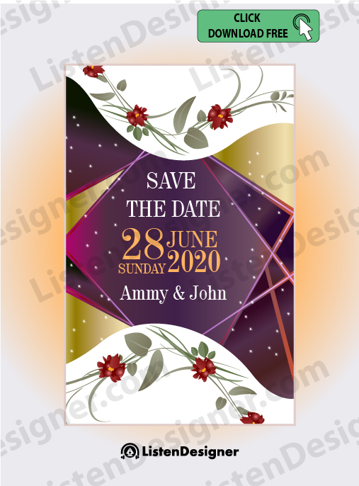 SAVE THE DATE TEMPLATE free download vector eps
