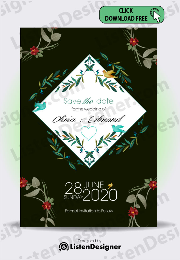 SAVE THE DATE TEMPLATE 2 free download vector eps