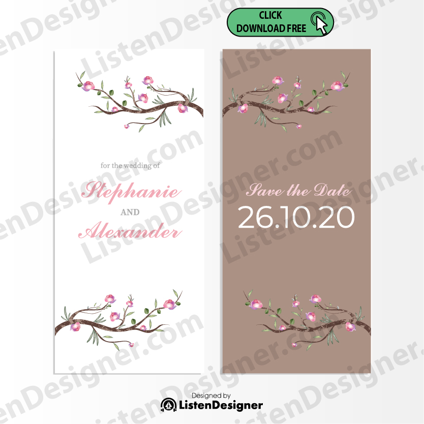 SAVE THE DATE TEMPLATE 3 free download vector eps