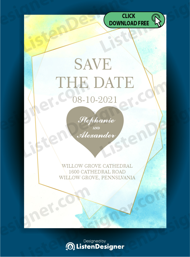 SAVE THE DATE TEMPLATE 4 free download vector eps