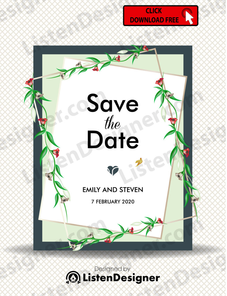 SAVE THE DATE TEMPLATE 5 free download vector eps