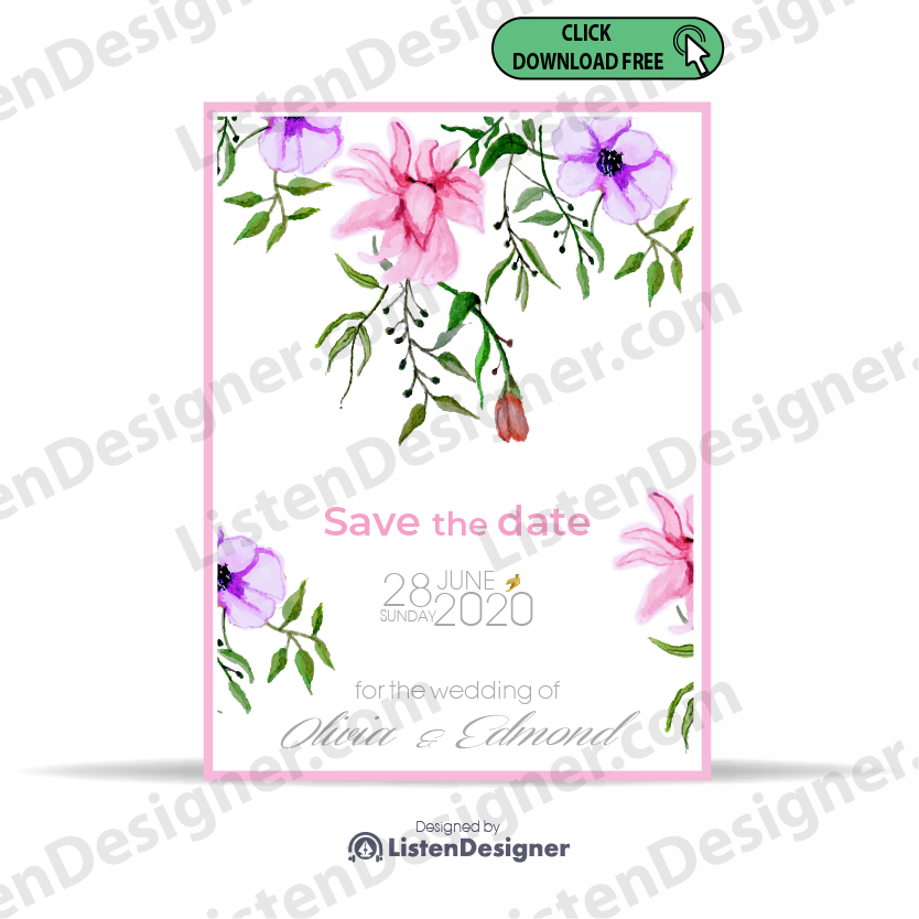 SAVE THE DATE TEMPLATE 6 free download vector eps