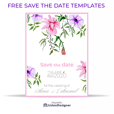 SAVE THE DATE TEMPLATE feature image free download vector eps