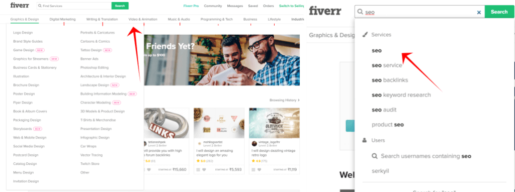 fiverr catagories and searching HOW TO CREATE A GIG ON FIVERR BLOG IMAGES