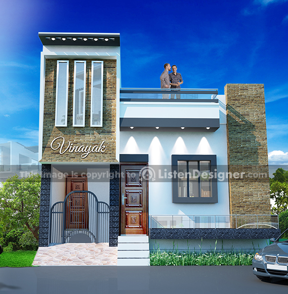 house front design indian style I