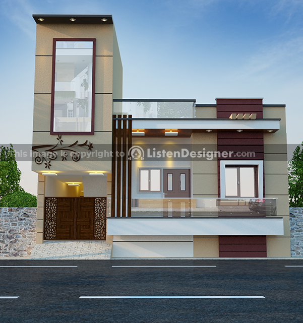 house front design indian style J