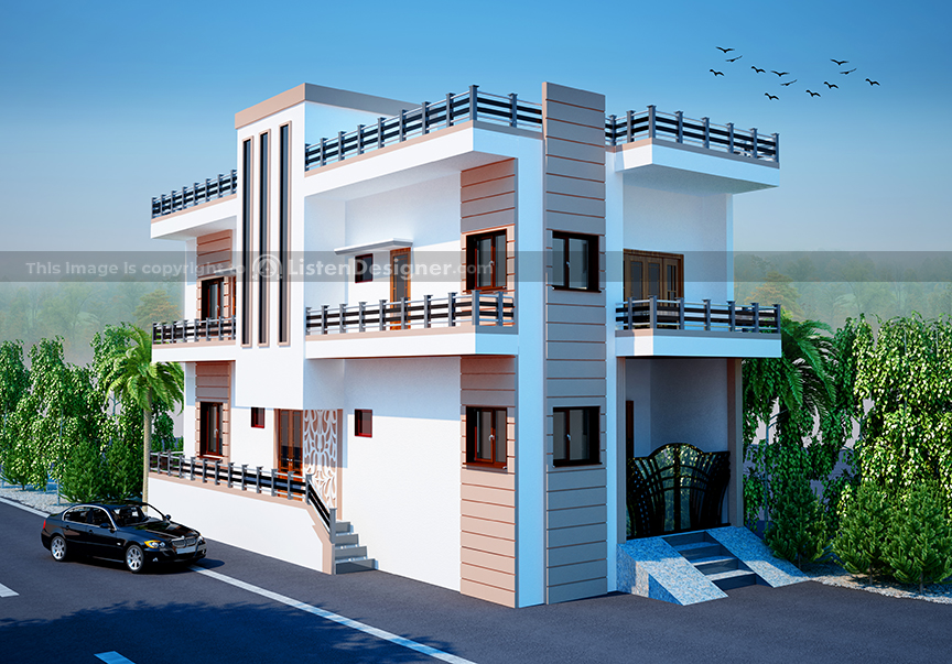 house front design indian style - Jodhpur Stone House d