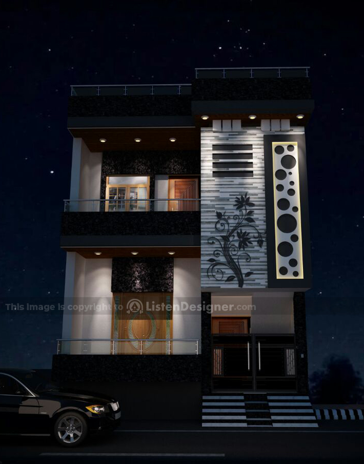 house front design indian style b