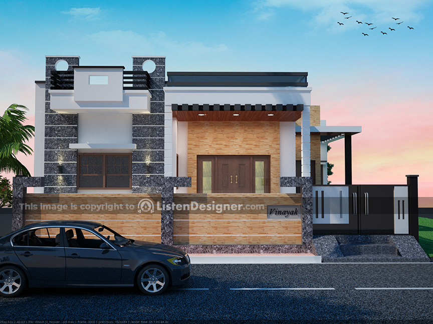 house front design indian style n