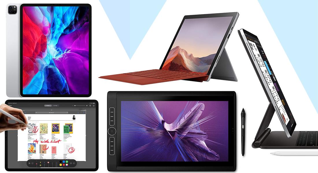 microsoft surface pro, apple ipad pro, wacom mobile studio pro, samsung galaxy tab s3