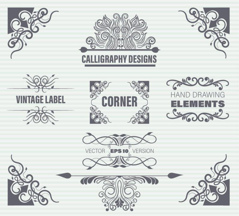 Free calligraphy element
