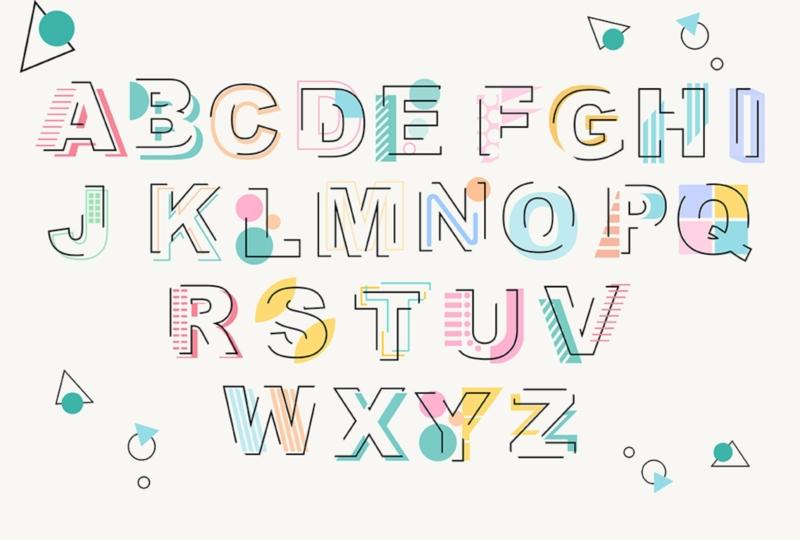 Modern font vintage font bundle