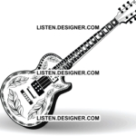Clip art of wedding guitar