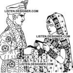 clip art of wedding bride and groom