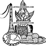 clip art of wedding kalash shahnai