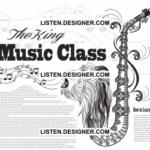 clip art of wedding saxophone