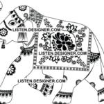 clip art of wedding elephant