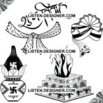 clip art of wedding calligraphy and hawan