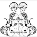 clip art of wedding dhol player