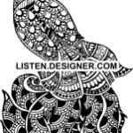 clip art of wedding peacock