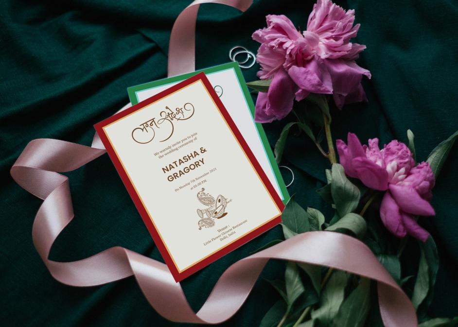 clip art of wedding card